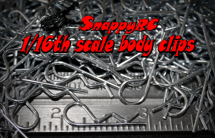 1/16th scale rc body clips