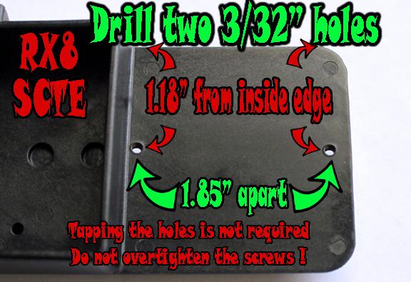 Tekin RX8 ESC Mount instructions for SCTE