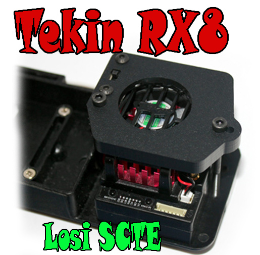 Tekin RX8 ESC mounting kit in SCTE